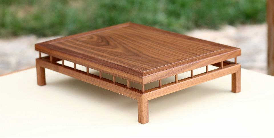 mesas para bonsai cuadradas