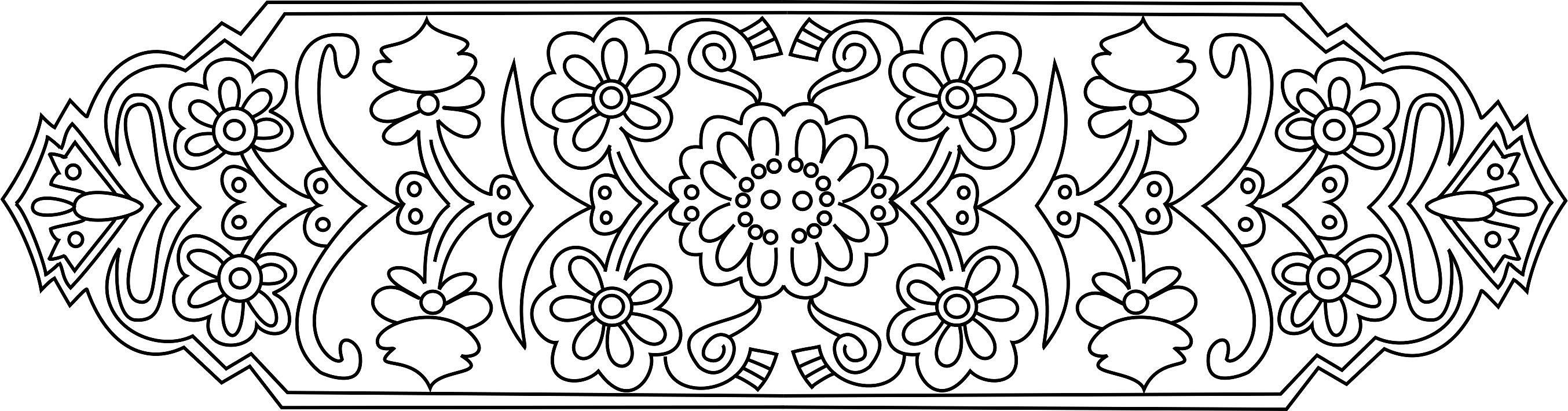 Татарские орнаменты раскраска