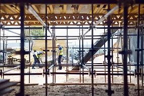 Lavoratori edili sul luogo di lavoro