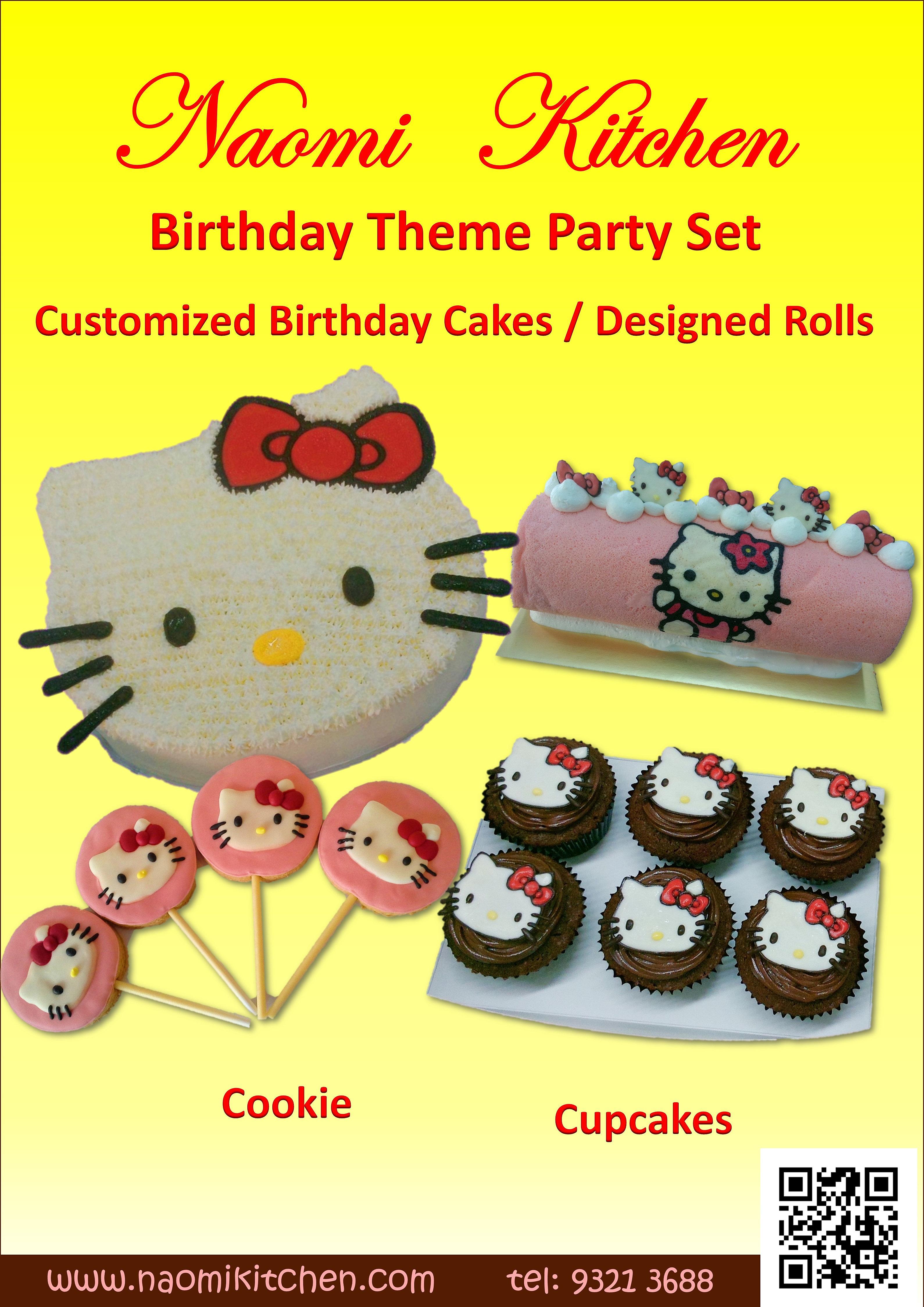 Hello Kitty Cafe Birthday Cake