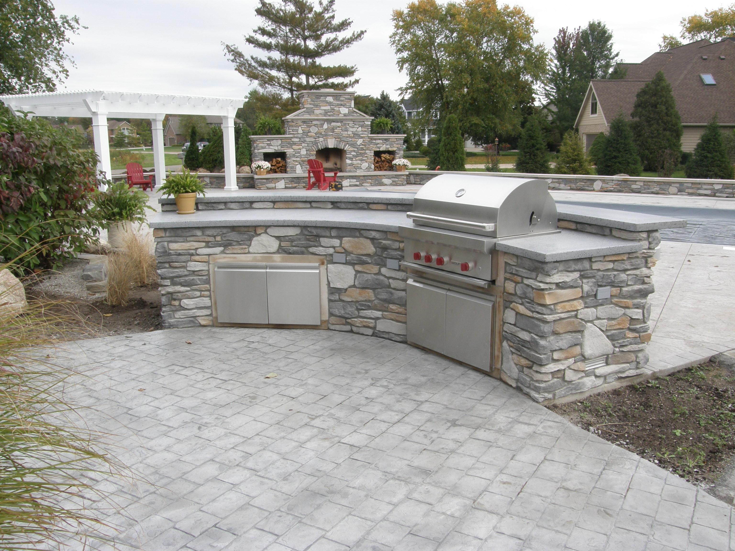 Countertop For Outdoor Kitchen Garlitz Concrete Stamped Concrete Chester Richmond Colonial