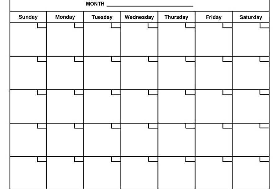 mrsrumleysclass | Blank Month Calendar