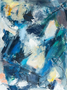 Deep Blues painting