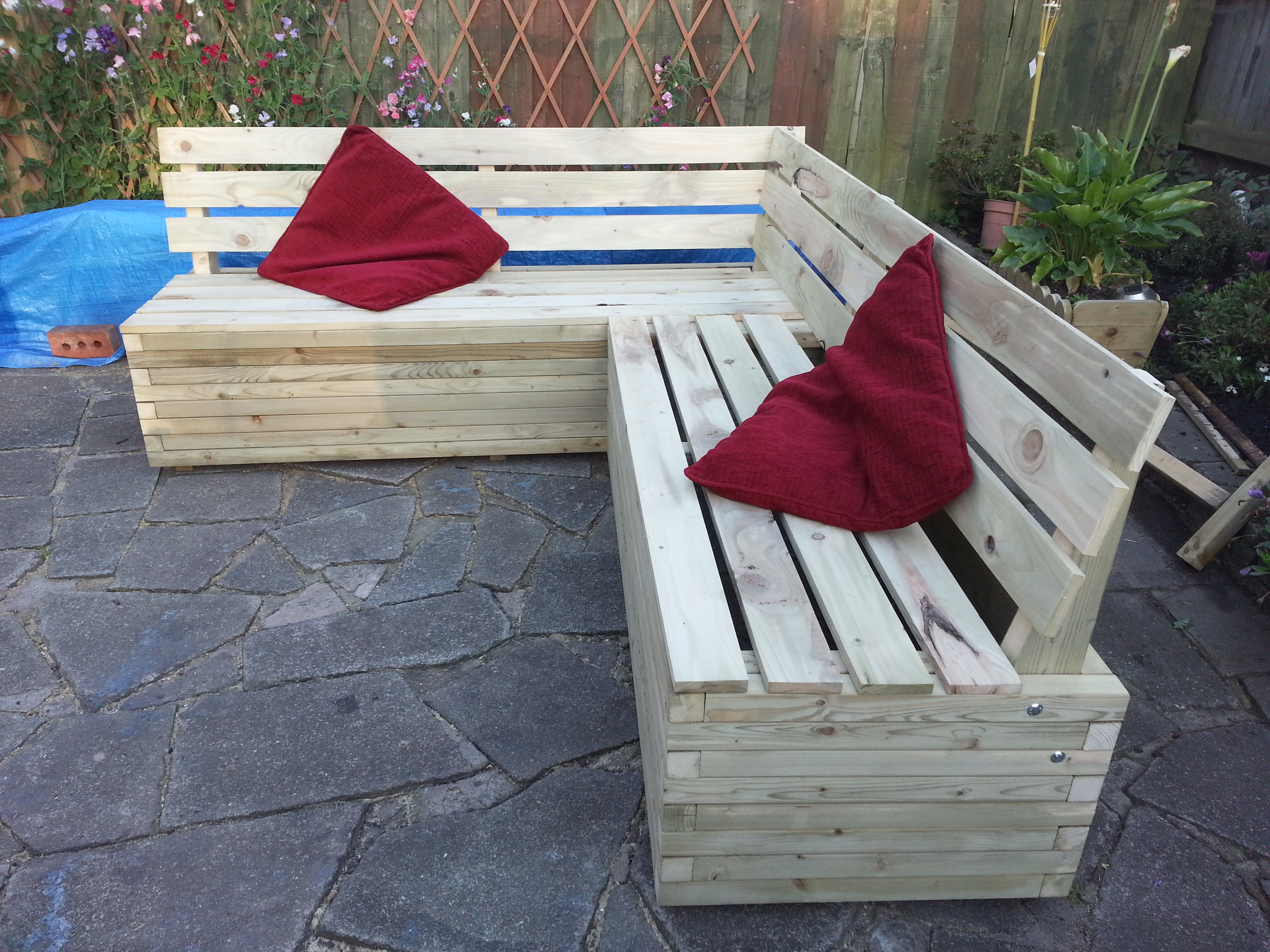 garden bench seat height