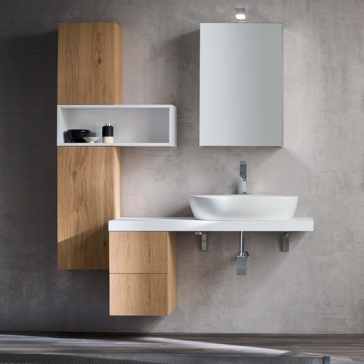 Mobile Bagno Moderno: Una Mensola Per Il Lavabo | Di Marco Sas Vendita Di  Pavimenti Rivestimenti E Arredo Bago