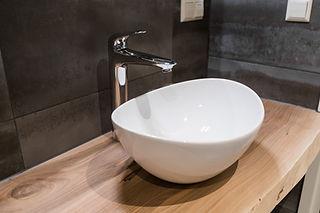 Waschbecken Aufsatzbecken Wasserhahn Badezimmer Unterschrank Baddesign Waschschale Design