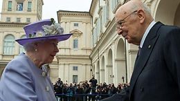 H.M. Elizabeth II, Queen of the United Kingdom, visits President Giorgio Napolitano