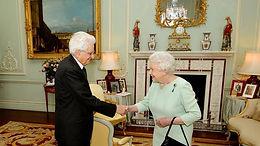 H.M. Queen Elizabeth II receives the visit of Sergio Mattarella, President of the Italian Republic