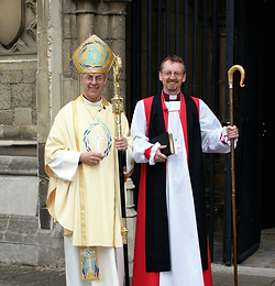 The Archbishop of Canterbury and the newly-consecrated Bishop of Gibraltar