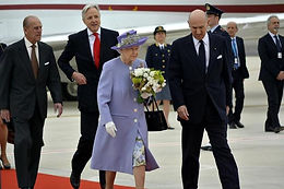 H.M. Elizabeth II, Queen of the United Kingdom, arrives in Rome