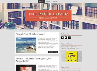 Literature Blog Template - Calling all literature fans! This blog template provides the perfect forum for reviews and critiques or your favorite books and literature. Engage your visitors by showcasing your top 10 reading choices, your favorite book or what you are currently reading. Just click on each post to begin editing and watch your opinions go viral!