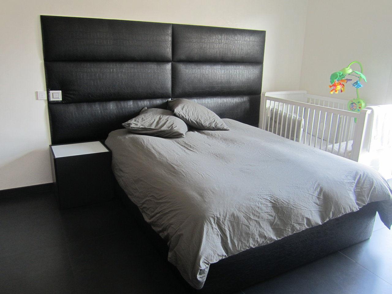 Donna design d co mur capitonn houppa cabine dj marseille - Tete de lit matelassee a passants ...