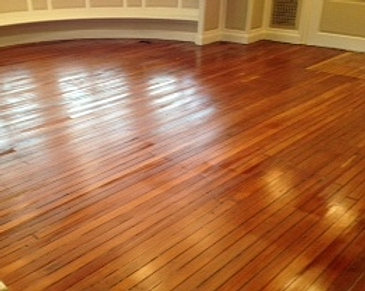 the refinished floors