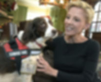 Veterans in Pain founder Micaela Bensko and seven-year-old service dog Blue Belle. Dan Watson/The Signal