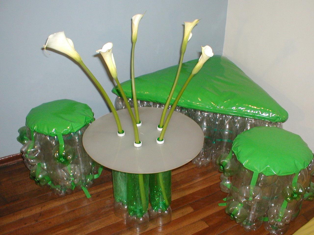 muebles recurrente muebles fabricados en botellas de pet consta de dos