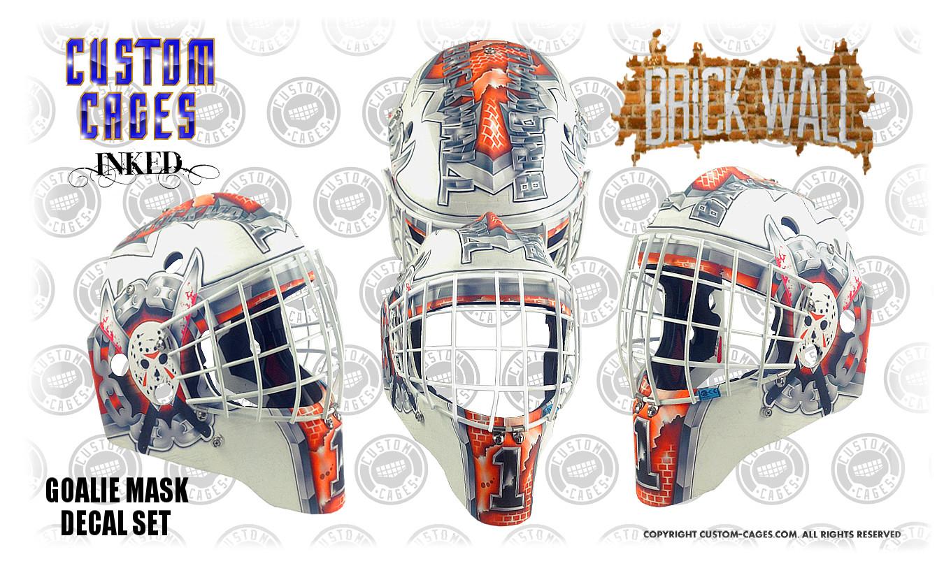 Goalie Mask Vinyl Wrap Template