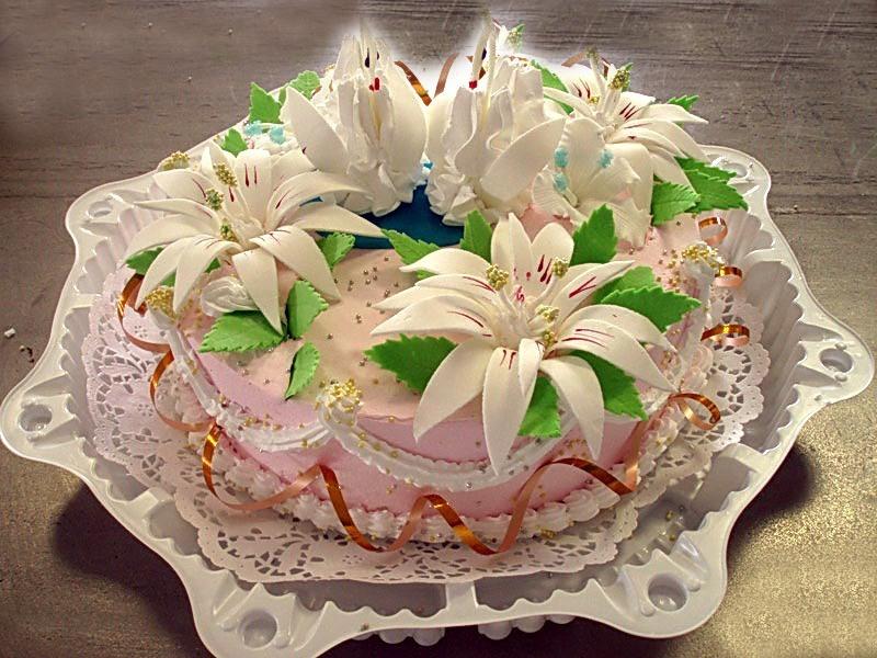 Фото праздничного торта с днем рождения