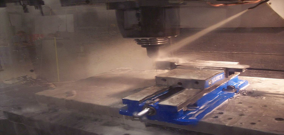 Milling knife edges in the CNC mill