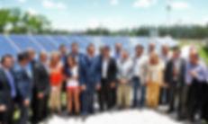 Scioli inauguró los paneles solares