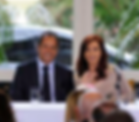 Daniel Scioli y Cristina Kirchner