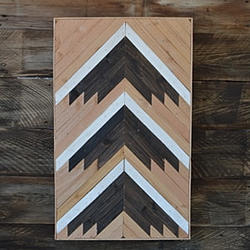 21x34 Arrow Pattern Wood Art