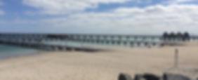 La jettée de Busselton au sud de Perth en Australie Occidentale