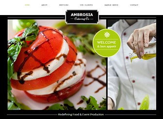 Catering Co Template - Customize this polished theme to show off your delectable dishes in style. Perfect for restaurants and catering companies, this template includes space for multiple menus and photo galleries. Start editing to share your culinary talents with the world!