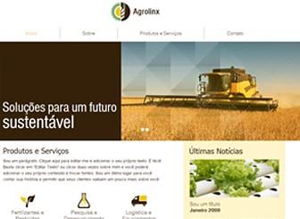 Empresa Agrícola Template - Faça seu negócio agrícola crescer com um site elegante. Totalmente personalizável, este template inclui uma galeria de slideshow em faixa e esquema de cores terrosas. Comece a editar para semear as sementes para o seu sucesso!