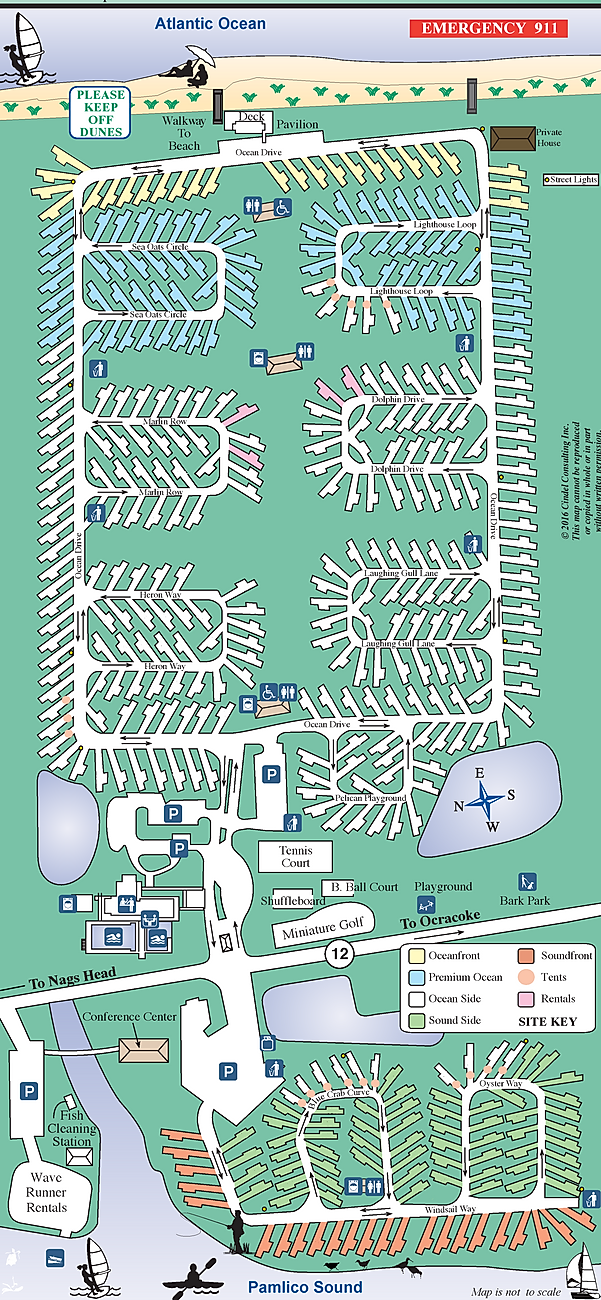 Camp Hatteras Site Map