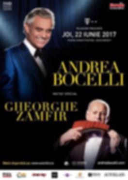 Gheorghe Zamfir and Andrea Bocelli in duet