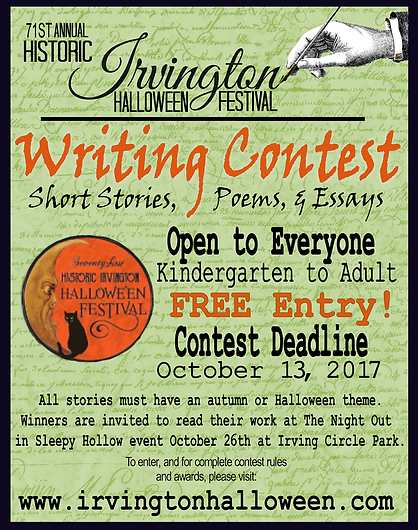 irvington halloween writing contest - Halloween Short Story Contest