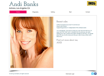 Actress Resume acting resume Resume Actress Website Template Wix