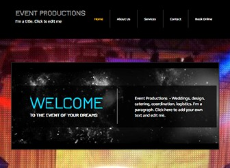 Organizacja Eventów Template - Ta dynamiczna strona HTML jest idealna do zaznaczenia twojej obecności w sieci. Pełna konfiguracja i łatwa edycja. Stwórz własną darmową stronę internetową i pokaż się online już dziś!