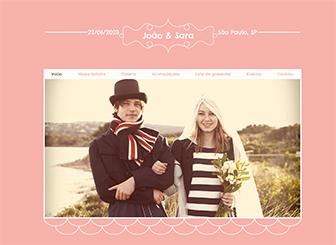 Site de Casamento Template - Divertido e charmoso, este template vai colocar seu casamento, seu evento ou sua marca no universo online. Simples para editar e fácil de atualizar, o que você está esperando?