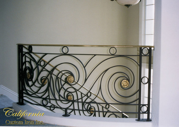 Brass and Steel Railing