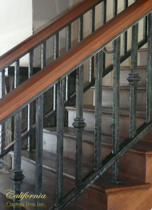 Custom Iron Forged Stair Railing