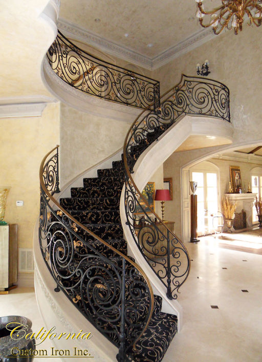Hand Forged Steel Staircase