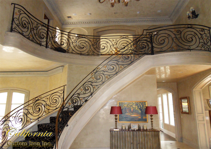 San Francisco CA Iron Curved Staircase