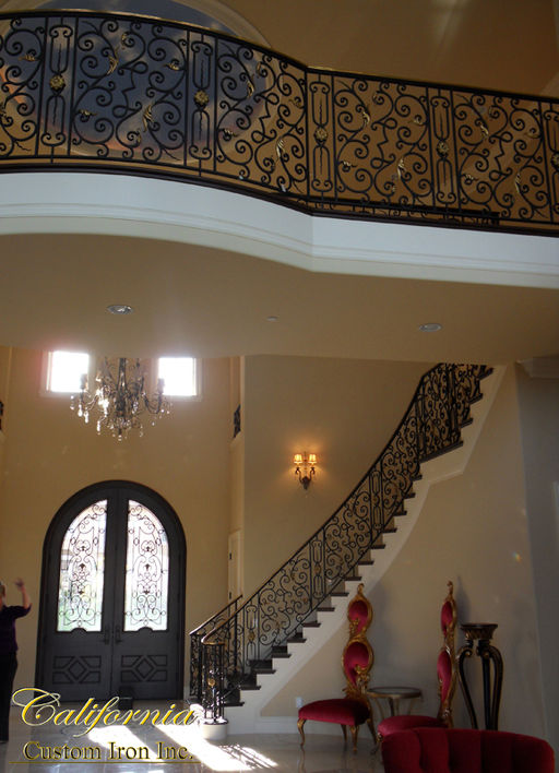 Custom Grand Staircase and Railing Pleasanton CA.JPG