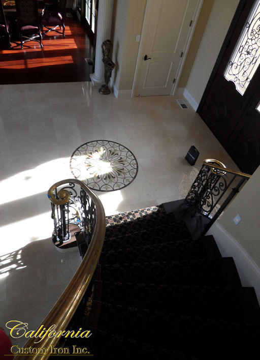 Brass Curved Stair