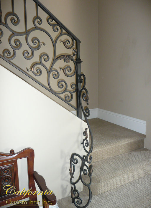 Wrap Around Scroll Railing