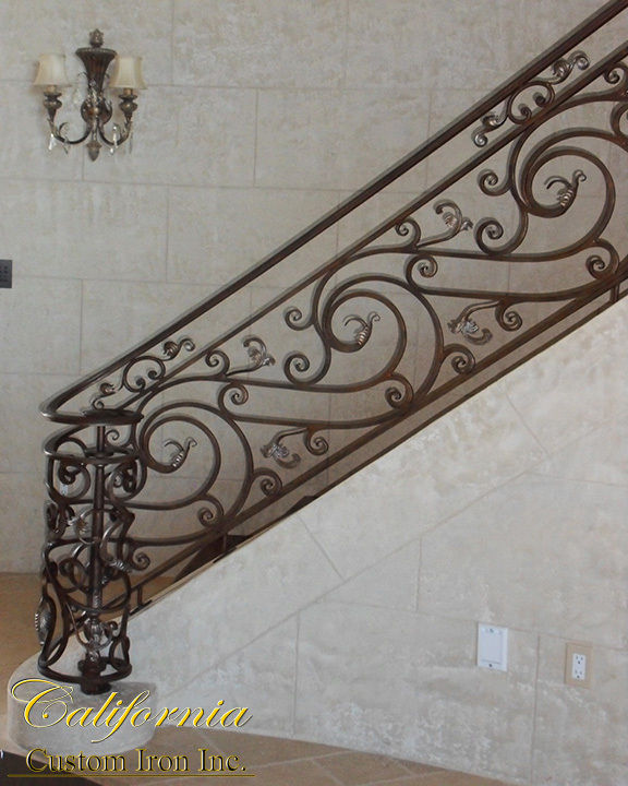 California Custom Iron Spiral Stairs Iron Railing