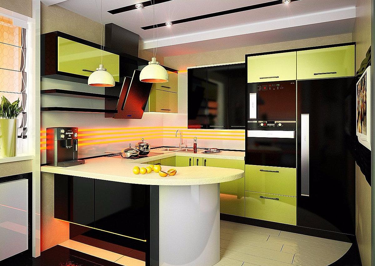 Дизайн кухни 10 кв м с окном