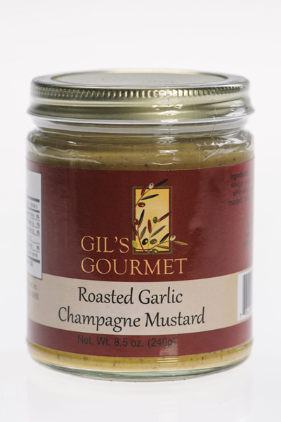 roasted garlic champagne mustard 8 5 oz gourmet food. Black Bedroom Furniture Sets. Home Design Ideas