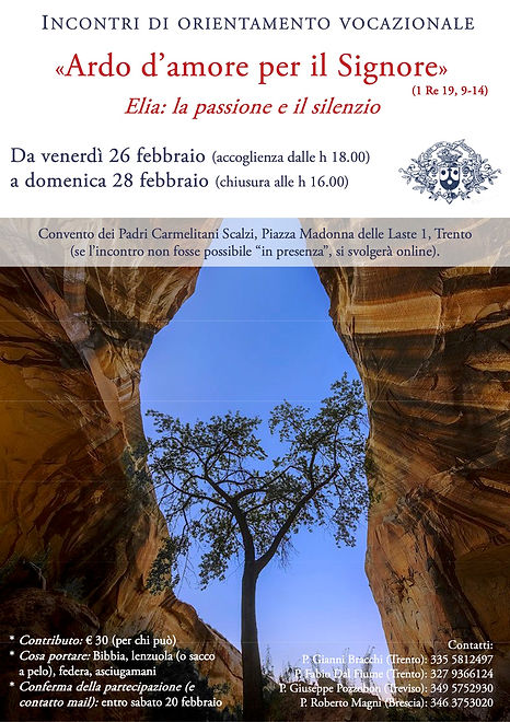 Locandina Incontri Vocazionali -  26-28