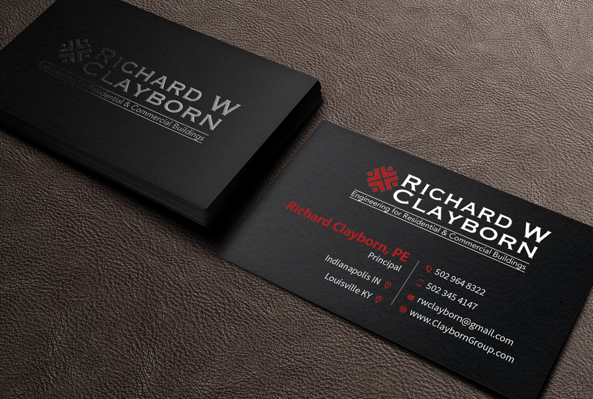 Engineering business card construction engineering firm reheart Image collections