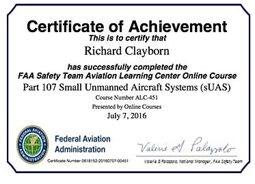 FAA Part 107 | Licensed Pilot Operator