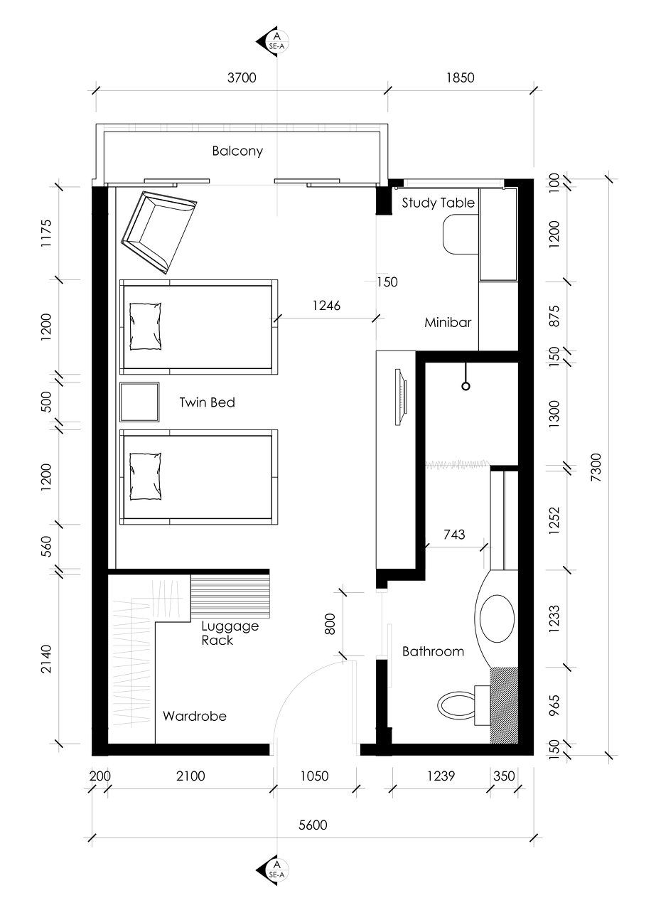 Hotel room layout design home design for Room design layout