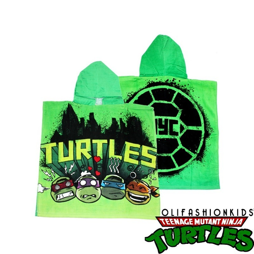 TURTLES BATH TOWEL PONCHO