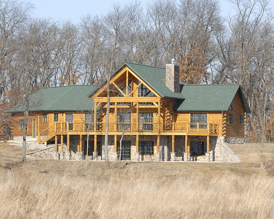 Pittsburgh Log Home Plan Cedar Crest